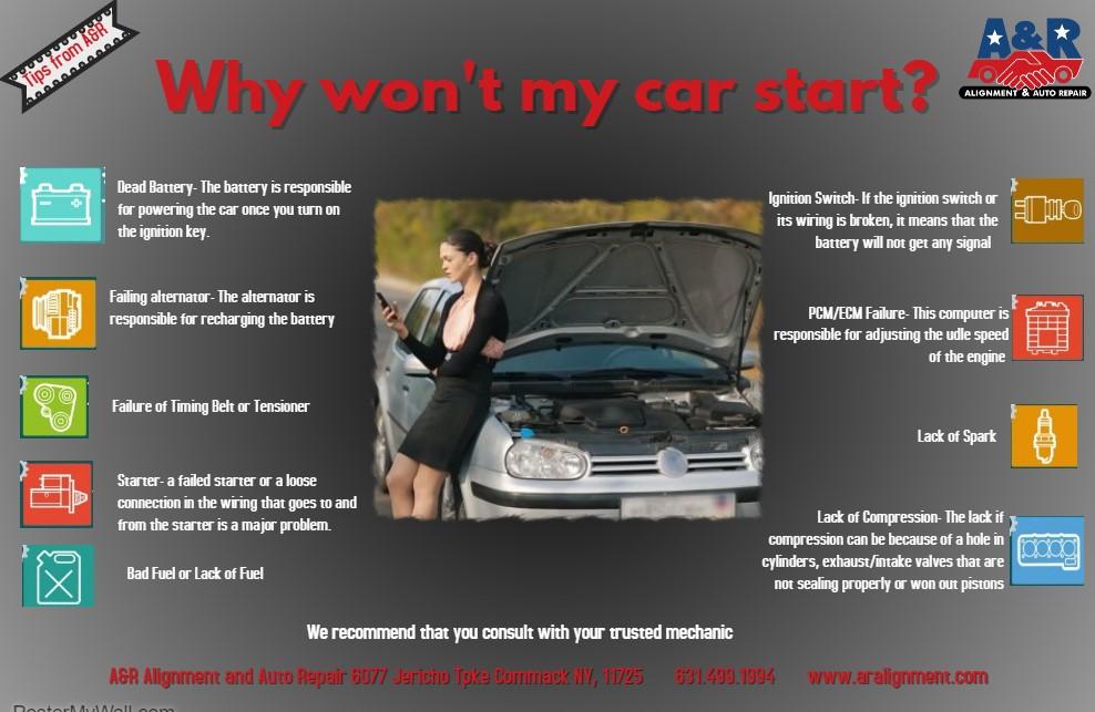 Why won't my car start? – A & R Alignment & Auto Repair